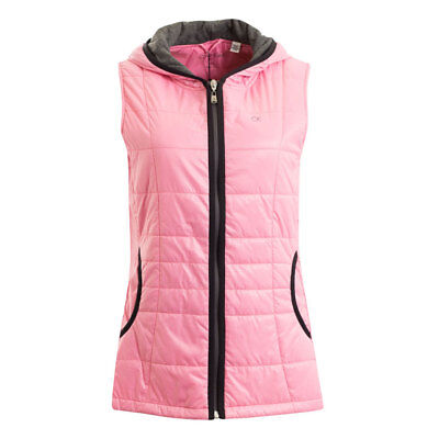 Calvin Klein Ladies Hooded Gilet with Water Repellent Finish in Candy Pink
