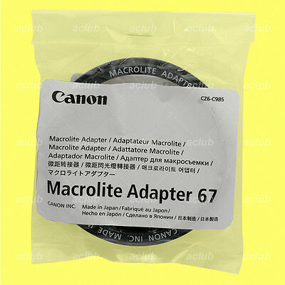 Genuine Canon Macrolite Adapter Ring 67 for MR-14EX MR-14EX II MT-24EX ML-3