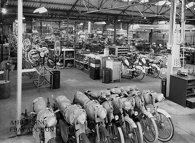 Alcyon 1957 factory distribution shipping department photo photograph motorcycle