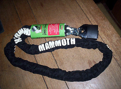 Mammoth Security Motorcycle Chain Lock Super Heavy Duty 1.8 Metre Free Post
