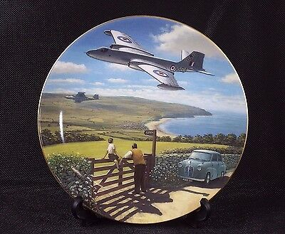 "Decorative Plate by Wedgwood - Out of the Blue Collection 'Electric Power' (8"")"
