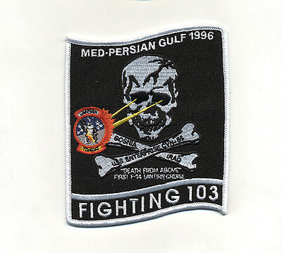 Usn/navy Vf-103 Jolly Rogers Med-Persian Gulf 1996 Cruise Patch F-14B Tomcat