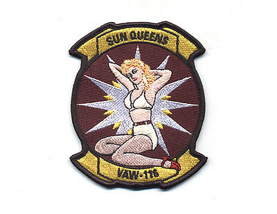 """Usn/navy Vaw-116 Sun Kings """"sun Queens"""" Friday Chest Patch E-2C Haweye"""