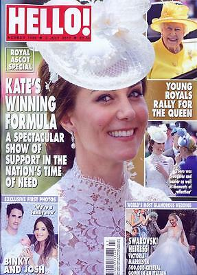 HELLO! magazine 26 June 2017 Trooping The Colour Kate Middleton Prince George