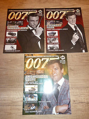 James Bond Modellauto Collection Heft Nr. 40, 43 und 44