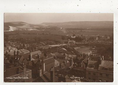 Lewes From The Castle Sussex Vintage RP Postcard