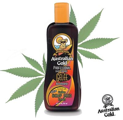 Australian Gold Dark Tanning Hemp Gelee Sunbed Accelerator Lotion + Free Goggles