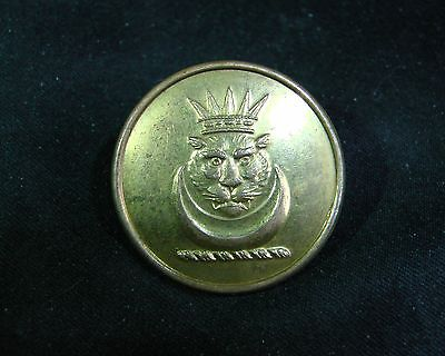 COCKERELL FAMILY TIGER FACE w CROWN & CRESCENT Gilt 25mm Livery Button Reynolds