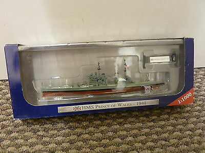 WARSHIPS OF WWII MODEL COLLECTION : HMS Prince of Wales - 1941 - BOXED - 1:1000