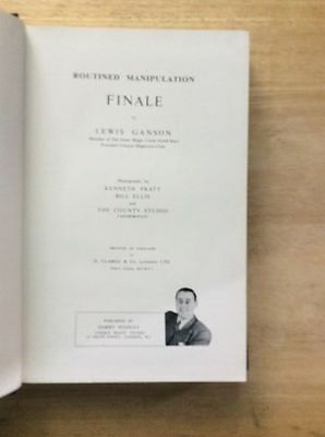 Routined Manipulation Finale  - Lewis Ganson - Signed - Magic    Hb