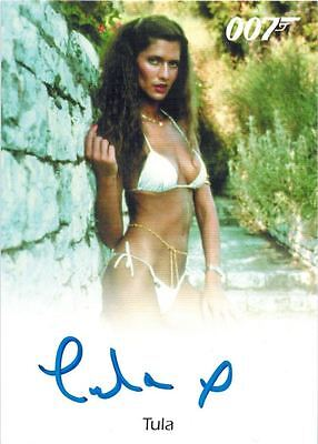 James BOND Final Archives: Autograph / Auto of Tula as Girl at Pool