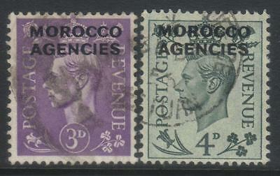 Morocco Agencies 1949 Optd Sg82-83 Used