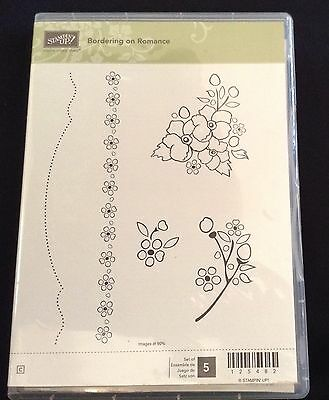 Stampin' Up Bordering On Romance Clear Stamp Set