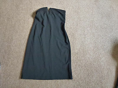 Ladies Black Strapless Fitted Evening Dress From Next  Size 10