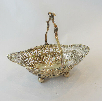 Antique Filigree EPNS Silver-Plate Rococo English Fruit Bowl Dish