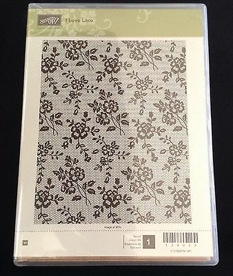 Stampin' Up I Love Lace Wooden Stamp Set