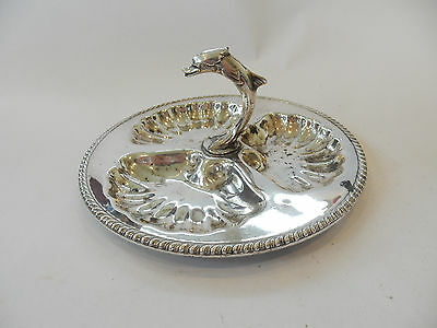 Antique Silver-Plate Dolphin Sweet Appetiser Serving Dish Stamped