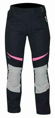 RST Ladies Gemma Textile Waterproof Motorcycle Trousers Black/Pink WAS £119.99