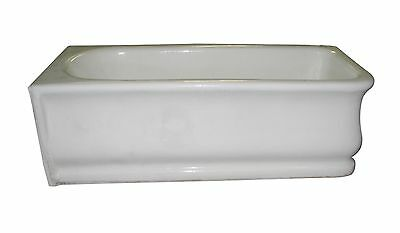 Rare 1880 Porcelain Over Earthenware Skirt Bathtub