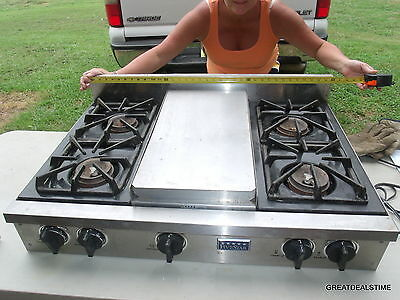 Five Star 36'' Natural Gas Pro Cooktop 4 Open Burners & Reversible Grill/Griddle