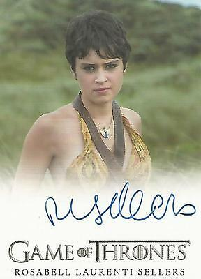 "Game of Thrones Season 6 - Rosabell Laurenti Sellers ""Tyene Sand"" Autograph Card"