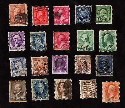 Stamps (x20) ~ UNITED STATES OF AMERICA USA ~ Early Selection MIXED UNSORTED
