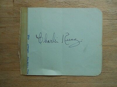 Vintage autograph Charlie Kunz - signed - 1938 New Cardiff Theatre
