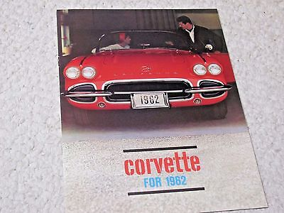 1962 Corvette (Usa) Sales Brochure..