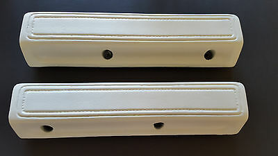 1966-70 Dodge Plymouth B-body C-Body Charger 13 Inch WHITE Arm Rest Pads/Mopar