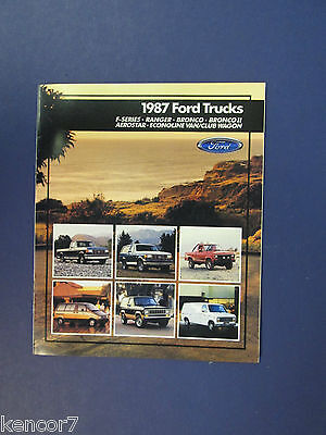 1987 Ford Truck Full Line Sales Brochure C7440