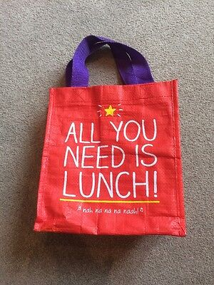 EXCELLENT CONDITION Happy Jackson lunch bag 'All You Need Is Lunch' comedy red