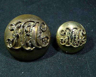 Pair of 1880-1894 KILDARE HUNT CLUB IRELAND MOUNTED Gilt Buttons Firmin