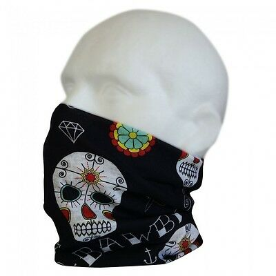 Bawbags Wizard's Sleeve Original Neck Warmer Gaiter Chube, Day Of Dead