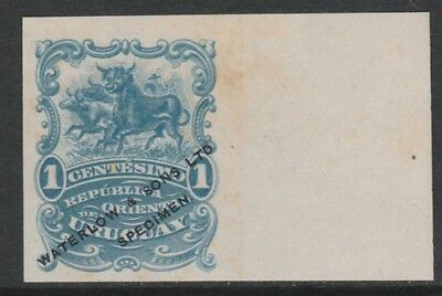 Uruguay 4376 - 1900 CATTLE 1c COLOUR TRIAL in blue