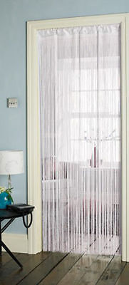 Single String Door Curtain Fly Insect Bug Summer Screen 90x 200 cm - White