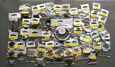 Large Job Lot Jewellery Making Items Findings New In Packages. Nickel Compliant