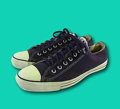 Vintage USA Made Converse All Star Chuck Taylor Purple Low Top Sneaker Sz 10