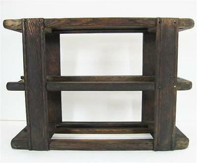 White Antique Treadle Sewing Machine Cabinet 2 Drawer Frame Carriage