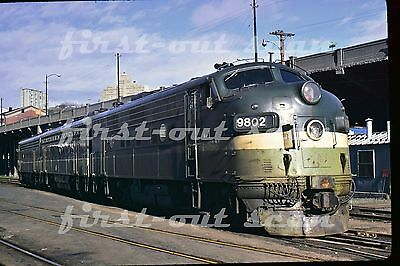 C Original Slide - Northern Pacific NP BN 9802 F-unit Group View February 1971