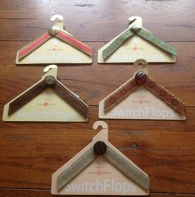 Lot Of 5 Lindsay Phillips Switch Flops Straps Medium Fits Sizes 7-8