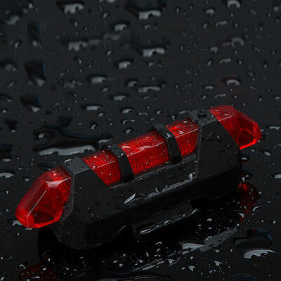 Safety NEW Cycling 5 LED USB Rechargeable Bike Bicycle Tail Warning Light Rear