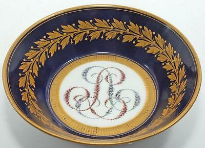 SUPER ANTIQUE SEVRES STYLE EMPIRE EARLY 19th PORCELAIN SAUCER DISH