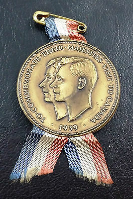 1939 Plastic Medal Commemorating Royal Visit to Canada - Free Combined Shipping