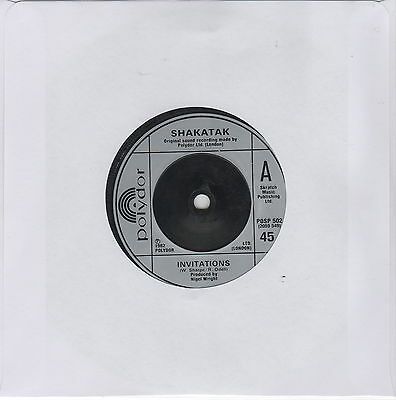"SHAKATAK - Invitations / In Shadows [SP 45 RPM 7""]"