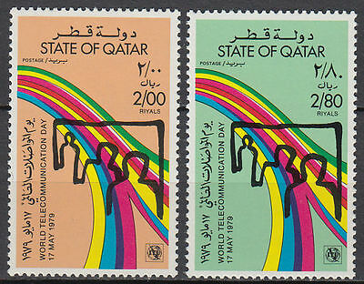 Qatar 1979 ** Mi.768/69 Weltfernmeldetag Telecommunication Day