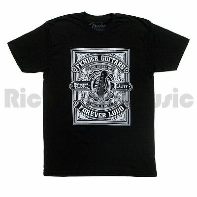 Fender Forever Loud Trusted Quality T-Shirt - Black - L