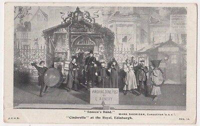 Snooza's Band, Cinderella, at The Royal Theatre Edinburgh 1904 Postcard B747