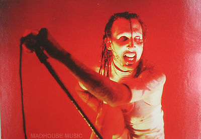 MARILYN MANSON Postcard UK 'Red' Official 1990's by PYRAMID Posters PC8049 Mint