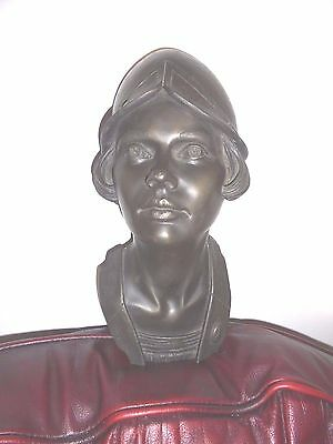 Art Deco Style Shop Display Bust Mannequin Head Signed