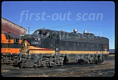 C Original Slide - Northern Pacific NP BN 730 EMD F-7A at Superior WI Oct 1974